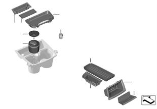 Bac de rangement console centrale