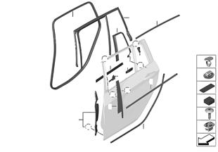 擋板和密封件 車門 後部