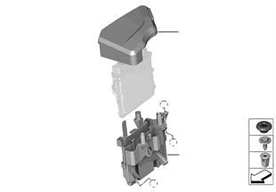 Caja de mecanismo de mando