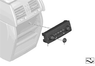 操作面板 後座區自動空調