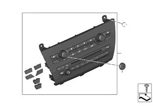 收音機和空調操作部件