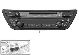 Radio- en aircobedieningseenheid