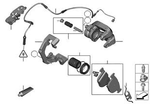 Hamulec tył-okładzina-czujnik