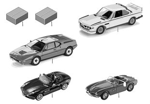 BMW miniatures 1:18 heritage collection