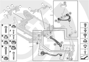 Repair kit for radius rods and wishbones