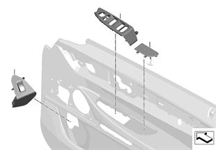 個別のオプション装備 組付け部品 ドアパネル (前)