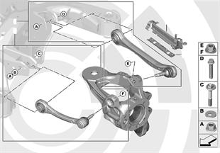 Repair kits for guide rod, wishbone