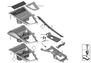 Pièces accolées console centrale