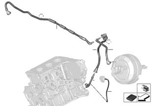 Vacuum line for brake booster