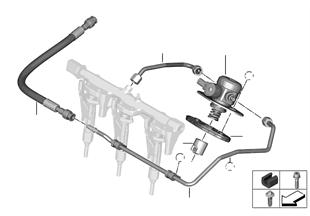 Hochdruckpumpe/Leitungen