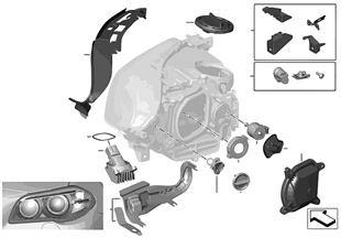 Einzelteile Scheinwerfer Xenon / ALC