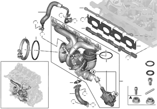 Vacuum line for brake booster | BMW X1 F48 X1 28iX B46 USA