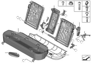 Asiento tras. bastidor asiento básico