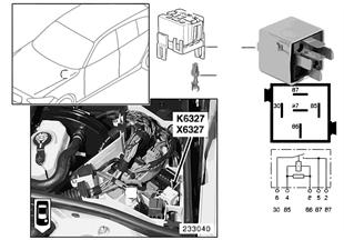 Relé inyectores K6327
