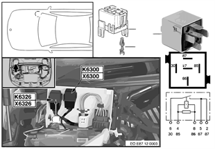繼電器 卸載 總線端 KL.15 K6326