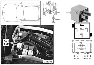 Relé přídavný ventilátor stupeň 1 K21