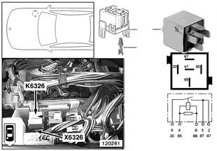 Разгрузочное реле контакта 15 K6326