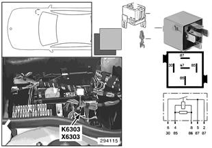 Relay for oxygen sensor K6303