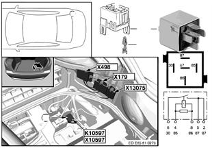 Relay for trunk fan K10597
