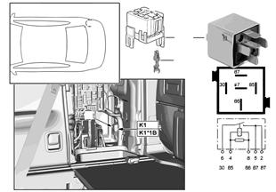 Relé compresor suspensión neumática K1