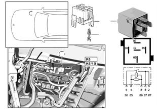 Relé motor DDE K6