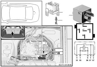 Relé kompresor vzduchové odpružení K1