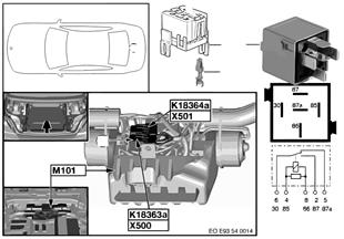 Relais Hardtop-Antrieb 1 K18363a