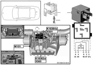 Relais Hardtop-Antrieb 2 K18364a
