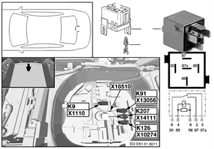 fahrzeug elektrik bmw 5 39 e61 530d m57n europa. Black Bedroom Furniture Sets. Home Design Ideas