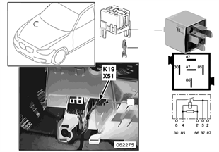 Relé compresor del climatizador K19