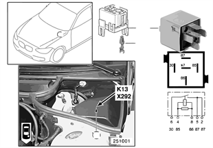 Relay for heated rear window K13