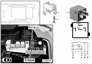 Реле привода крышки багажника K112