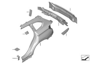 Fiancata/rivestimento posteriore