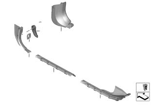 個別のオプション装備 サイド トリム パネル 足元
