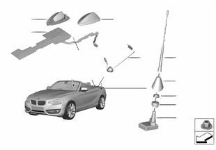 Singoli pezzi antenna radio