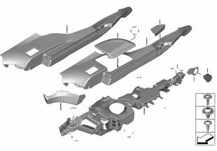 Trim cover, waist rail, trunk