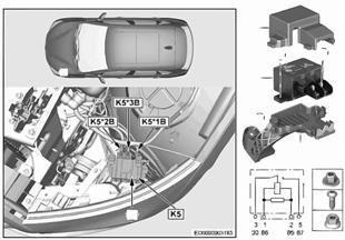 Relais Elektrolüfter Motor K5