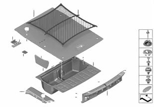 Trim panel, trunk floor