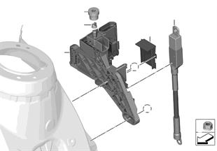 Borne B+ compartiment moteur