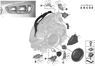 Componentes de faros halógenos