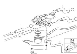 Valve 3/2 voies et tuyaux de carburant