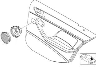 Einzelteile HiFi System Tür hinten
