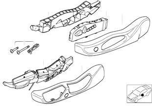 Single parts of front seat controls