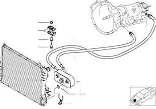 Transmission oil cooling