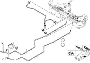 Yakıt hattı/Sabitleme parçaları