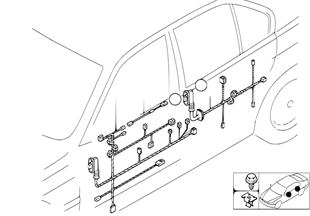 Door cable harnesses