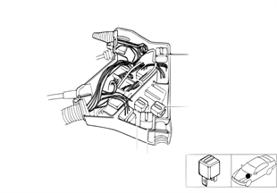Relay positioning, engine compartment