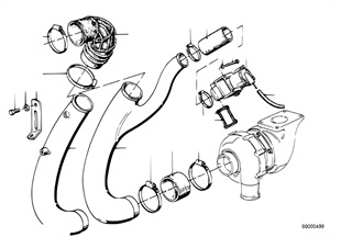 Turbo charger-tube, aircleaner