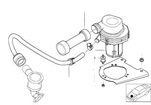 廢氣有害成份減小的空氣泵
