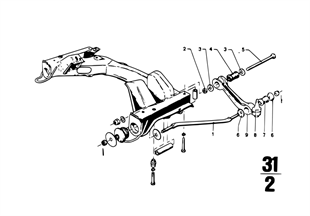 Nosník přední nápravy/příčné rameno